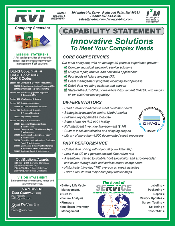Government Capabilities Statement